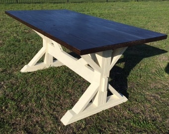 Hand Crafted Farmhouse Table with Trestle Base - 5 foot