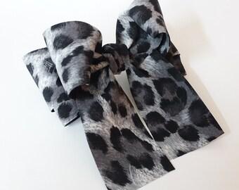 Leopard Print Long Tail Bow French Hair Barrette Women Hair Accessories