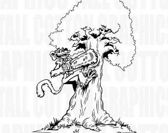 LUMBERJACK LOGGER Tree Surgeon Vinyl Decal - #JB048