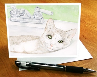 Cat Note Cards, Cat Retirement Gifts for Women, Kitty Note Cards, Gift for Cat Lover, Cat Stationery, Cat Notecards, Cat Thank You Cards