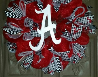 Alabama Crimson Tide deco mesh wreath