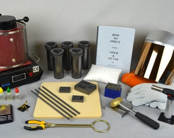 """1 Kg """"All Inclusive"""" Gold Melting Electric Furnace Kit to Melt Gold, Silver, Precious Metals Cast and Stamp your own Ingot Bars! KIT-0044"""