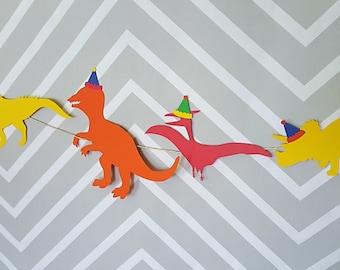 Dinosaur Birthday Garland