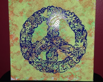 Peace Sign wall canvas