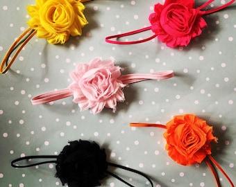 Single Flower Skinny Headband