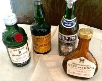 Bottles of liquor advertising