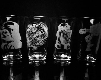Star Wars Pint Glasses - Set of 4