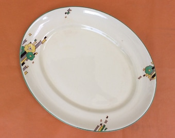 Vintage 1930's Morley Ware platter, Mayfair pattern