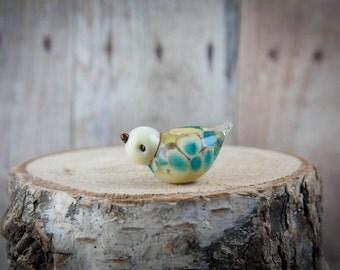 Lampwork Bird Bead, Glass Bird Bead, Glass Bird Charm