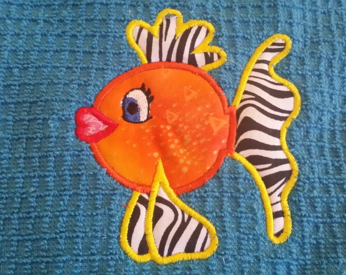 Goldfish-Tarpon Springs...Florida-Applique Towel