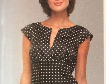 Misses' Empire Waist Dress New Look 6348