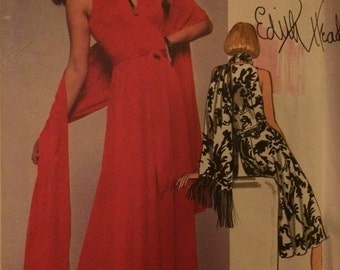Vogue Dress and Stole Pattern 1561 by Edith Head