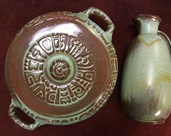Francoma Pottery Casserole and Pitcher