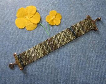 Pathways Peyote Stitch Bracelet - FREE SHIPPING in the U.S.