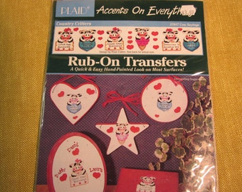 Rub-On Transfers,Country Critters Cow sayings,Love one anudder,anudder day in paradise,cownt your blessings,cow sweet it is,cow I love thee