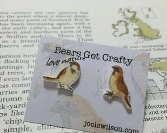 House Sparrow Earrings