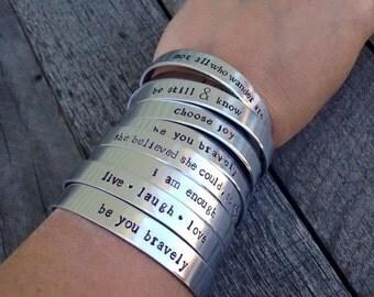 10 Personalized Aluminum Cuffs