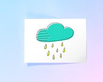 Raincloud Print