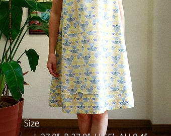 Hawaiian fabric ,Umbrella dress , No-sleeve one-piece ,HNLS02371