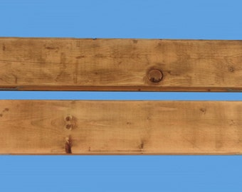 "2-reclaimed wood floating shelves , 20"" long , from a demolished house-112"