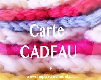 "10 euros Gift certificate for ""Happy Crochet, Etc…"" shop"