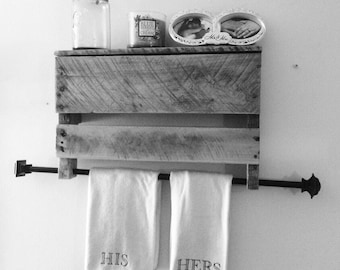 Pallet Hand-Towel Holder