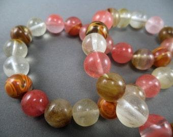 Cherry Quartz Beads - 10mm - 15 1/2 Inch Strand