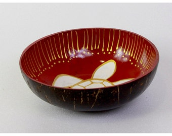 Classic Oriental Decorative Multipurpose Handmade Coconut Shell Handcraft Bowl (PC 23)