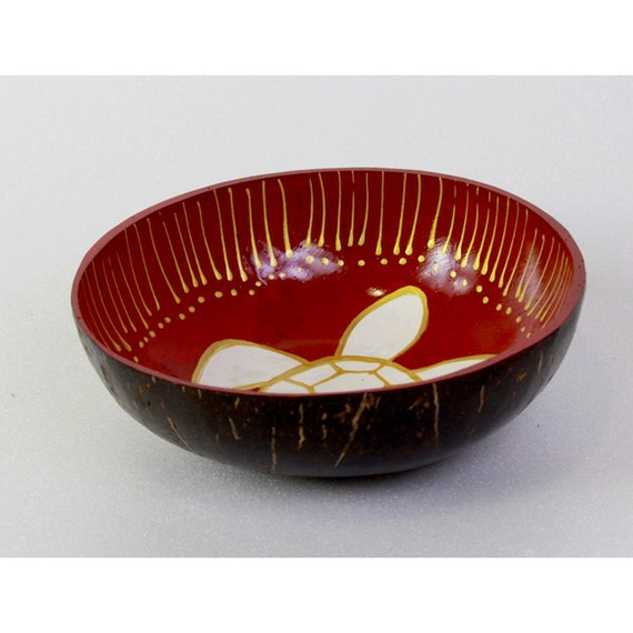 Classic Oriental Decorative Multipurpose Handmade Coconut Shell Handcraft Bowl (PC 23)