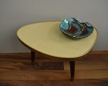 flower stool, side table, plant stand, coffee table | Germany | 60s, kidney shaped,