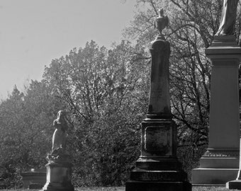 cemetery  photography in black and white