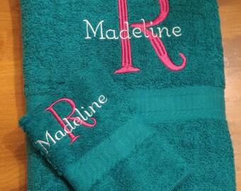 Personalized Kids' Bath Towel Sets for Boys - Turkish Cotton (Picture 2/3