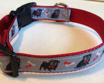 Dog Collar, Pug, Adjustable, Durable