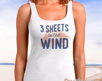 Sailing Tank Top or Gift For Sailors, Sailing T Shirt, Nautical Shirt, Beach Shirt, Boat Shirt, Boating Shirt, Sailing Boat, Women's Shirt!