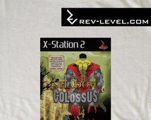 Shadow of Colossus T-Shirt - Team Ico vs X-men - Gaming Crossover Marvel Tee by Rev-Level