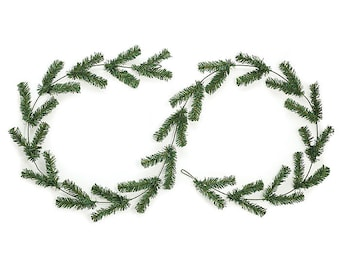 GARLAND DIY Wreath Supply Deco Mesh  -  Green work garland with 44 PVC greenery tips. Great for use with deco mesh!