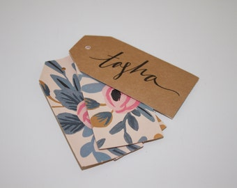 Custom Floral Gift Tags