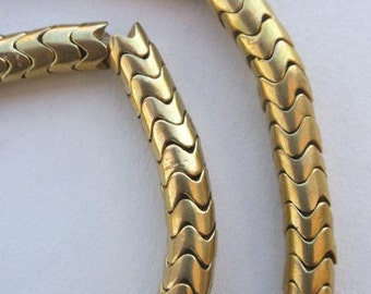 Brass Snake Beads (12x11mm) [64515]
