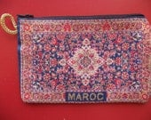 Moroccan wallet , hand purse for money & make up , Rug , Carpet style