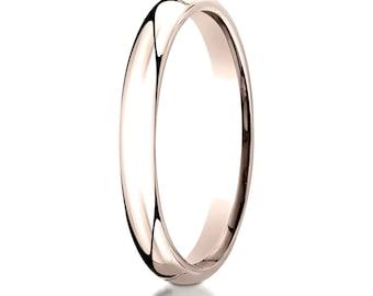14kt Rose Gold Comfort Fit Wedding Ring 3mm, 3mm Wedding band, 3mm Wedding Ring, Comfort fit band, 3mm comfort fit ring, Pink gold ring