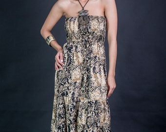 Sale 20% Off leopard print strepless overall/tiger print/jumpsuit/mono/strepless/san tropez/padelefon/purple overall/pink/bohemian/bohoch...