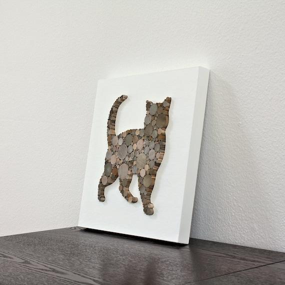 d cor rustique murale moderne chat decor minimaliste. Black Bedroom Furniture Sets. Home Design Ideas
