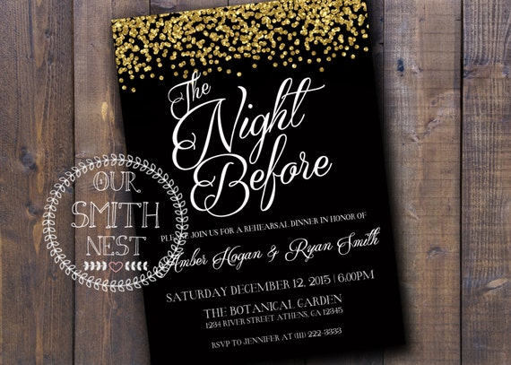 New Years Eve Wedding Invitation: Printable New Year's Eve Wedding Invitations