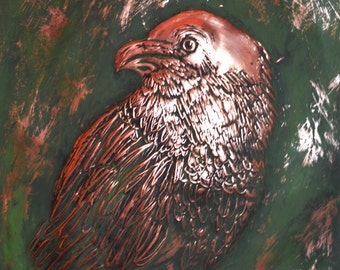 Copper Wall Art of Raven