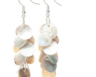 Mother of Pearl Chandelier Earrings (wholesale priced)