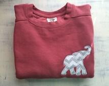 Monogrammed elephant comfort colors sweatshirt