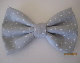 Light grey bow tie, Men grey bow tie, Boy's grey white bow tie, Adjuster slide bow tie. grey wedding bow tie, Gray cotton bow tie for men