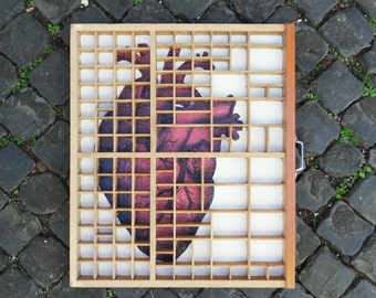 Heart in a drawer – Decorative Letter press drawer
