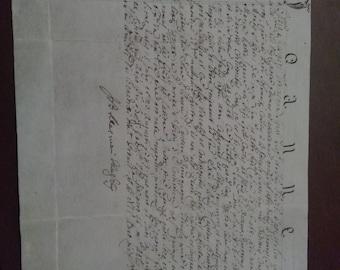 Handwritten letter of 1700