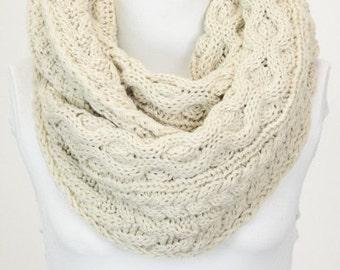 Women's Knit Infinity Scarf, Knit Winter Scarf, Cozy Knit Infinity, Scarf, Knitted Scarf, Gift for her,
